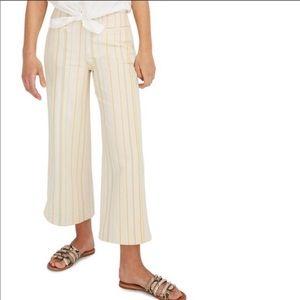 Madewell Emmett Wide-Leg Crop Pants in Stripe